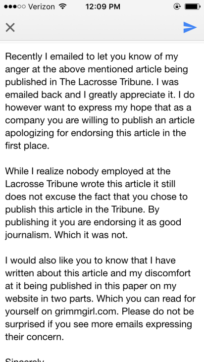 email to tribune