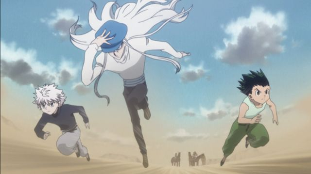 Killua, Kite, and Gon