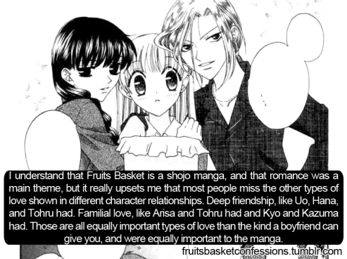 Fruits Basket vol 2 Uo, Hana, and Tohru