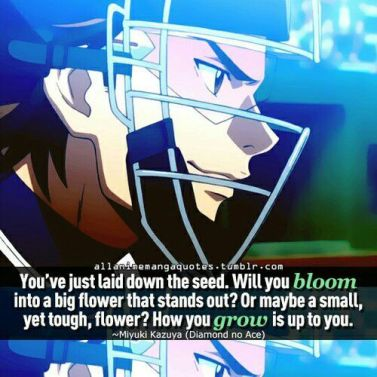 Ace of Diamond quote6